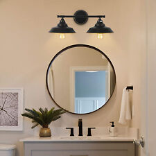Bathroom Vanity 2 Light Fixture Over Mirror Ul Listed Black and Gold Wall Sconce