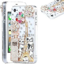 NEW DIAMOND DESIGNER BLING DIAMANTE PERFUME CASE COVER GIFT MOBILE PHONES UK