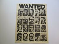 RARE WANTED POSTER NIXON PHILIP LIEF AND MARCEL FEIGEL 1970'S POP ART LARGE