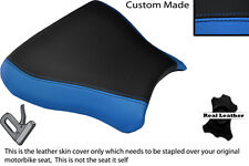 BLACK & LIGHT BLUE CUSTOM FITS SUZUKI GSXR 600 750 SRAD 96-00 FRONT SEAT COVER