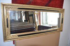 Barock Wandspiegel Zierspiegel Gold-Schwarz Spiegel  60x140 cm SPIEGEL GOLD NEU