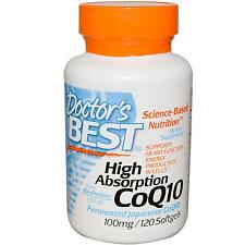 Doctor's Best High Absorption CoQ10 (Co-enzyme Q10) 120 - 100mg Softgels