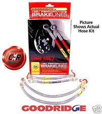 Golf 2 Goodridge Braided Brake Hose Lines - Rr Drums:G4 SVW0503-4P 4 Line Kit VW