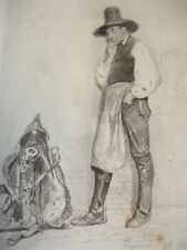 GRAVURE XIXe VOYAGE EN SUISSE  signée Karl Girardet 1849