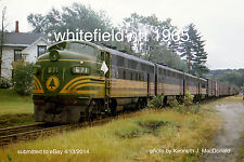 """Maine Central RR 671 Whitrfield NH 1965  4x6"""" photo {sizes on request}"""