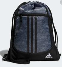NWT adidas Alliance 2 Sackpack Pull Drawstring Backpack Gray Black CJ0418 Bag