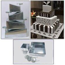 Euro s Multi Layer Cake Pans Mini Topsy Turvy Square 4 Tier Wedding Pan