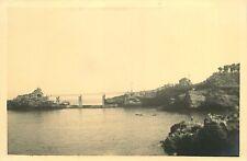 PHOTO 031015 - 1933 BIARRITZ - Rocher de la Vierge vu du vieux Port
