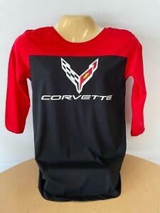 Ladies C8 Corvette 3/4 Length Sleeve Buds Chevrolet