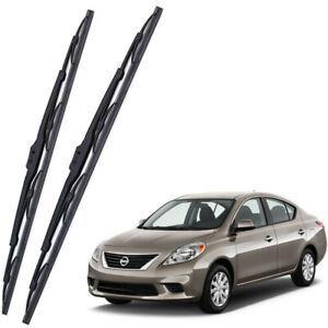 Genuine OEM Set Front Windshield Wiper Blades For 2012-2019 Nissan Versa Sedan