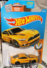 2016 Hot Wheels #121-250 Yellow '15 Ford Mustang GT Malaysia 4+ Diecast Boys & S