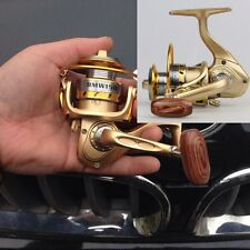 Gold Fishing Reel Spinning round mini micro lure small tiny wheel camp camping