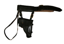 Soviet Navy Officer Black Leather Belt with holster