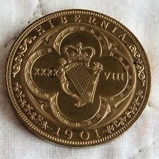 IRELAND 1901 QUEEN VICTORIA BRONZE PROOF PATTERN MODEL 4 SHILLINGS