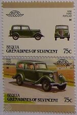 1936 FORD POPULAR Car Stamps (Leaders of the World / Auto 100)