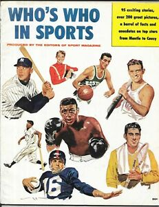 SPORT not Illustrated 1957 WHO'S WHO Mickey Mantle Ted Williams NEWSSTAND NoLABL