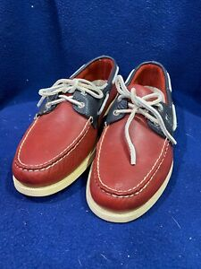 Men's Sperry Top Sider Boat Shoes Red Leather Size 12M New No Box