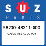 58200-48G11-000 Suzuki Cable assy,clutch 5820048G11000, New Genuine OEM Part
