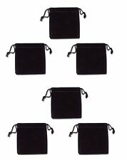 """Lot of 6 Felt Pouch 3"""" x 3"""" INCHS perfect for Gemstones, Jewerly and Pendulum"""