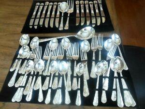 51 Piece Silver Plate Flatware Service For 12