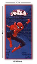 MARVEL TELO MARE SPIDER-MAN 100% COTONE 70X140 cm. PISCINA ASCIUGAMANO
