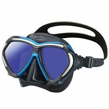 New TUSA Paragon Scuba Mask Black/Blue Snorkeling