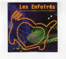 CD SINGLE PROMO (NEUF) LES ENFOIRES QUAND LES HOMMES VIVRONT D'AMOUR
