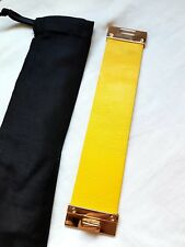 Faux leather yellow and gold  bracelet