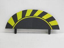1 Paar Randstreifen, Endstücke gelb/schwarz, jeweils 14 cm lang, Carrera, 1:24