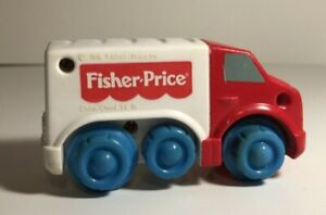 """Vintage McDonald's Fisher Price """"Under 3"""" Happy Meal Delivery Truck Toy 1996"""