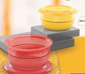 Tupperware preludio Acrylic-450 ML Bowl-Red n Yellow Set of 2