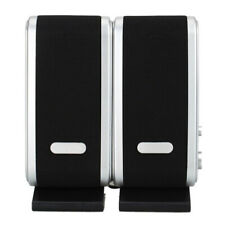 Portable USB Multimedia Stereo Speakers System For PC Laptop Computer 3W Black