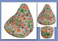 KIDS BEAN BAG Sewing Pattern and  FREE BONUS Foot Stool Cushion Pattern