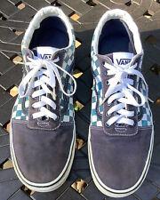 Size 12- VANS Old Skool Blue Checkerboard