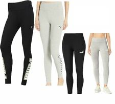 Puma Rebel Reload Womens Ladies Sports Fitness Legging Black Grey