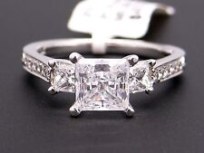 Scott Kay Platinum Princess Diamond Engagement Promise Ring M1178 Semi Mounting