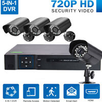 4CH 1080N H.264 5IN1 DVR Outdoor CCTV IR-CUT 720P Camera Security Video System