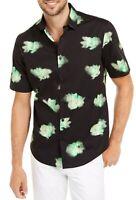 Alfani Mens Shirt Green Black Size 2XL Button Down Briston Floral $55 040