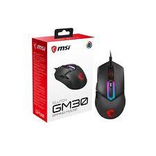 MSI Clutch GM30 Black GAMING Mouse, RGB Mystic Light, USB, Symmetrical Design