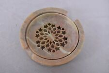 Indian Marble Stone Soap Dish Holder Bathroom Accessories Handmade Round Shape