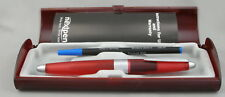 Nextpen Allure Transparent Red & Silver Rollerball Pen - Nos - Mint In Box