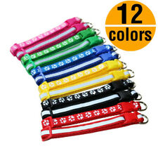 12 Wholesale Reflective Dog Collar Adjustable Buckle Collar W/ Bell Small Puppy