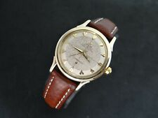 VINTAGE OMEGA CONSTELLATION TWO TONE HONEYCOMB DIAL 14K SOLID GOLD BUMPER 354