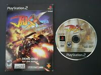 Jak X Combat Racing DEMO Disc for Sony Playstation 2 PS2 - NFR RARE