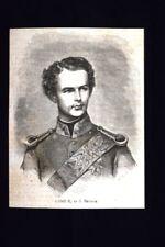 Luigi II, re di Baviera Incisione del 1870