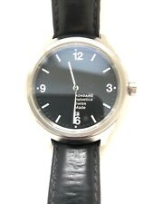 Mondaine Helvetica Black IP Plated Nylon Strap Mens Watch MH1.B1221.