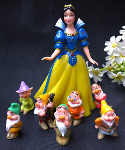 Boutique Snow White 7 Dwarf Doll Basin Micro Landscape Garden Cake Decoration