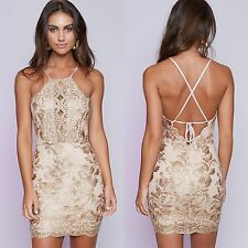 New-Womens-Lace-Formal-Prom-Cocktail-Evening-Party-Bridesmaid-Short Mini-Dresses