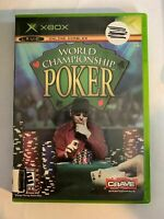WORLD CHAMPIONSHIP POKER - XBOX - COMPLETE W/ MANUAL - FREE S/H - (T8)