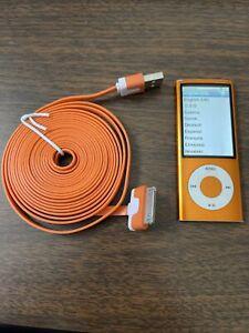Apple iPod nano 5th Generation Orange (8 GB) Bundle